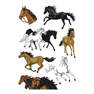 Herma Çocuk Etiketleri Atlar Renkli